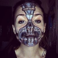 Bane Mask face paint part 2 by lgoresfx