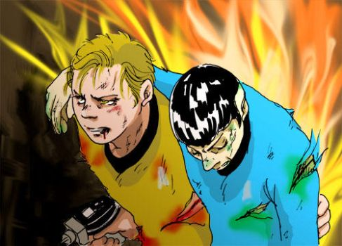Kirk and Spock  'breakout' by Emushi