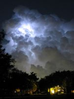 Lightning storm by jpdavey
