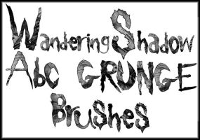 WS Abc Grunge Brush Set by DestroyingAngels