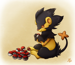 Shiny Luxray loves giving by LimeRa