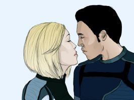 Shepard and Kaidan. by AnEndlessVanity