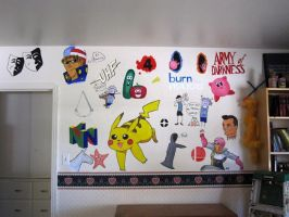 Bedroom mural commission ('10) by ambergerr