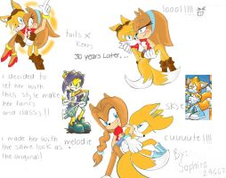 Kerry and Tails doodle 30 years later by saphira24667
