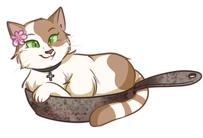 Kitty In a Frying Pan by SmartasticalArt