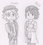 Sketch - Shotaro and Philip by RaijinSenshi