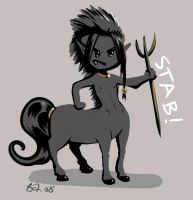 Angry little centaur by Saehral