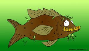 Chip the Potato-Fish COLORED by micperson