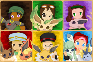 Pixel Art - Eeveelutions by ShadowDemon101