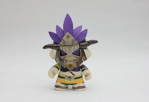 Diablo Witch Doctor Munny by spilledpaint88