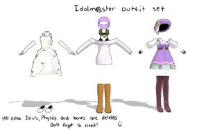 IDOLM@STER outfit set by Vocaloid98