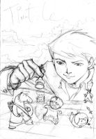 Chess Book Cover Pencil Sketch by splendidriver