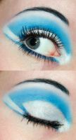 Blue and white eyeshadow by Creativemakeup