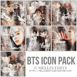 [ICON PACK #1] BTS ICONS - MELLI'S EDITS by MellisEdits