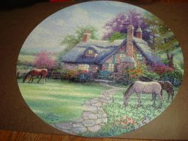 Thomas Kinkade puzzle by aragornsparrow