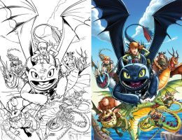 How To Train Your Dragon #01 - cover by MarcFerreira