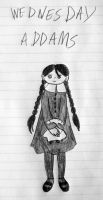Little Wednesday Addams by Jakegothicsnake