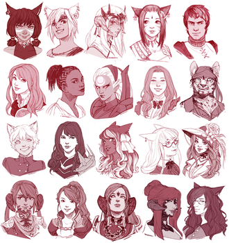 New Year Portraits [part 1] by Momo-Deary