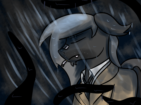 An old friend in the rain by TranzmuteProductions
