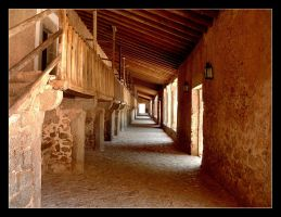 Arcades In The Buildings At The Monastery In Lluc by skarzynscy