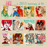 2013 art summary by hazumonster