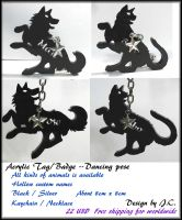 Acrylic Tag-dancing (custom your name and species) by J-C