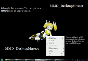 MMD Models on your Desktop by MMD3DCG