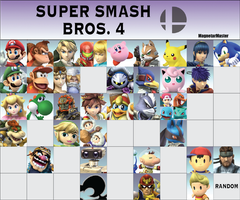 Super Smash Bros. 4 Fanmade Roster by MagnetarMaster