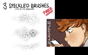 3 Speckled Brushes by Zippora