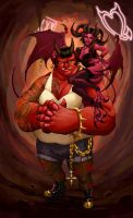Monster Girl Challenge: Demon and Succubus by TravJames