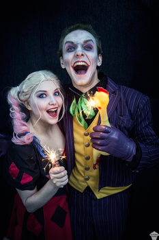 Joker and Harley by ThePuddins