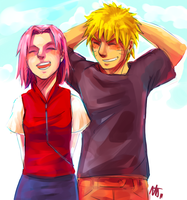 NaruSaku . Laugh by starchiishio