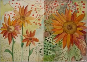 Postcard  - both sides (sunflower) by ma-ry2004