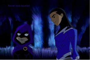 Raven and Aqualad by TT989