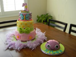 First Birthday Baby Cake by ThePetiteShop