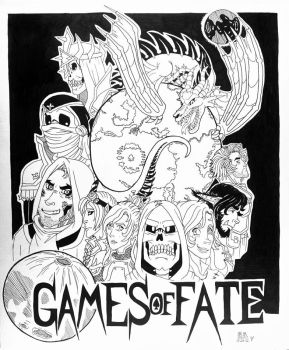 Games of Fate - Inktober day 31 by Skull-Splinters