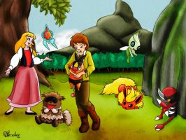 Taran and Eilonwy team by VibaFleischer