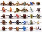 Lampwork beads by MermaidsTreasury