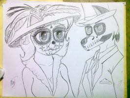Calaveritas Lineart by HELLPATO777