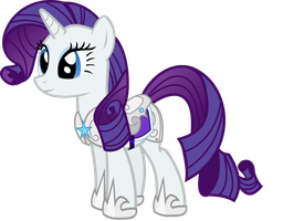Rarity in her armour by Vector-Brony
