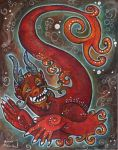Asian dragon serpent critter by snail-lady