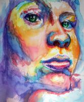 A Study of Self in Watercolor by Bextron5000