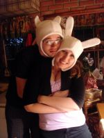 Adventuretime- Finn and Fionna hat by livetoletlive