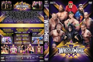 WWE WrestleMania XXX DVD Cover V3 by Chirantha