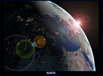 Earth 1 of 2 by AquilaPhasmas