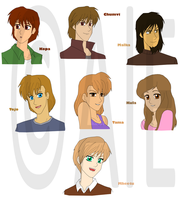 TLK+Anime: Another charas by The-PirateQueen