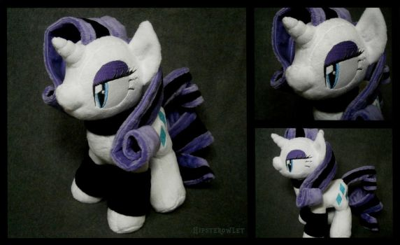 Handmade Goth Rarity Plushie by HipsterOwlet