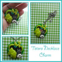 Totoro Necklace: Forest Spirit Charm by FantasySystem