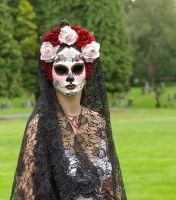 Mask-Rosa Reina-DayoftheDead by EffigyMasks