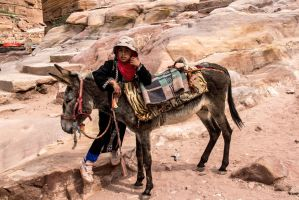 People in Petra 4 by ShlomitMessica